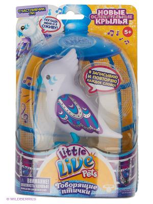 Говорящая птичка Little Live Pets  LUCKY LEE Moose. Цвет: белый