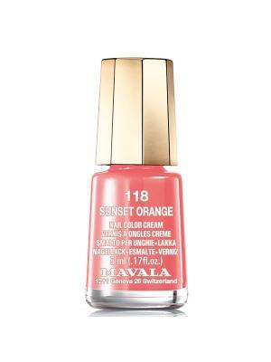 Лак для ногтей тон 118 Sanset Orange Mavala. Цвет: оранжевый