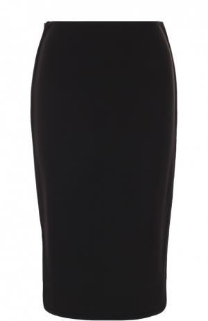 Юбка-карандаш с высоким разрезом Diane Von Furstenberg. Цвет: черный