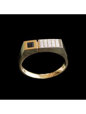 Ювелирное кольцо Диковинка. Цвет: золотистый, черный