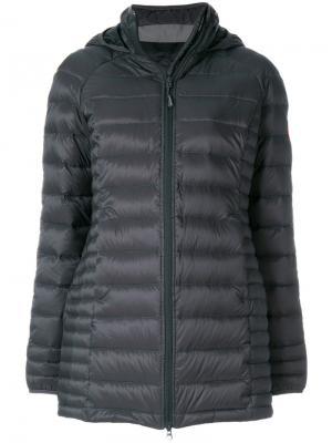 Дутое пальто на молнии Canada Goose. Цвет: серый