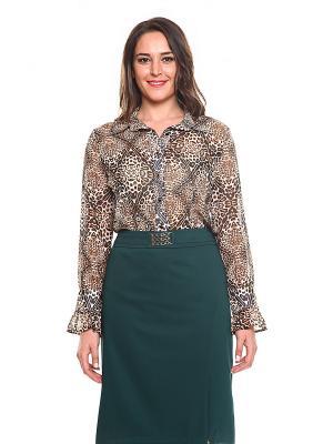 Блузка TOPSANDTOPS. Цвет: коричневый, терракотовый