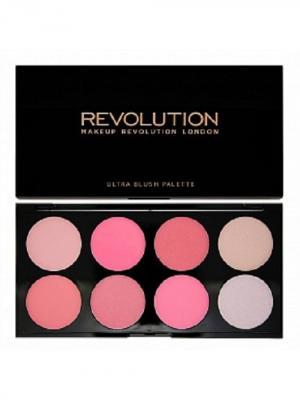 Палетка румян и корректоров Blush & Contour Palette All about Pink MakeUp Revolution. Цвет: светло-серый, бледно-розовый, розовый