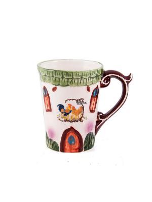 Кружка для чая Деревенский уют Русские подарки. Цвет: зеленый, бежевый