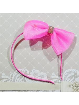 Ободок Бант Bizon. Цвет: малиновый