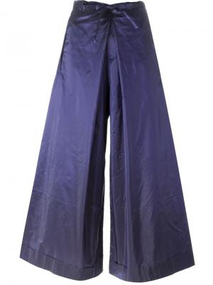 Широкие брюки Daniela Gregis. Цвет: розовый и фиолетовый
