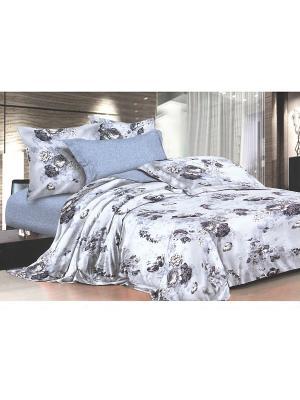 Комплект постельного белья ДУЭТ сатин, рисунок 672 LA NOCHE DEL AMOR. Цвет: серый