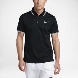Мужская теннисная рубашка-поло Court Nike. Цвет: черный