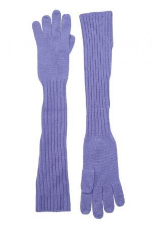 Кашемировые перчатки 143557 Barbaro Brunelli. Цвет: фиолетовый