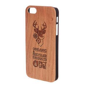 Чехол для iPhone 5  Case Wood Brown Picture Organic. Цвет: коричневый