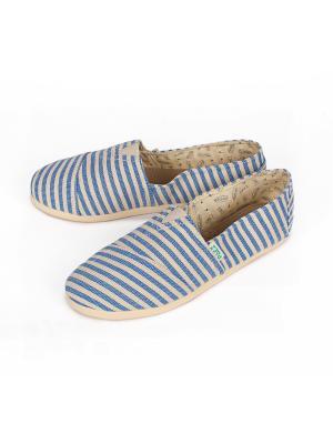 Эспадрильи PAEZ Original Surfy женские. Цвет: белый, голубой