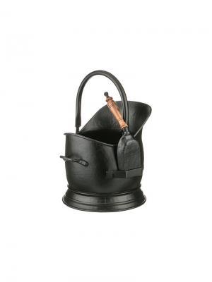 Ведро d 29 см., h.36 см. с совком Elff Ceramics. Цвет: черный