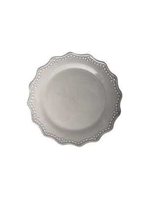 Тарелка - 6 шт. H&H. Цвет: серый