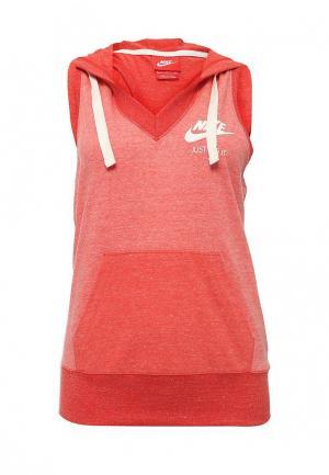 Майка спортивная Nike. Цвет: красный
