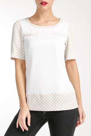 Блузка PAOLA COLLECTION. Цвет: бежевый