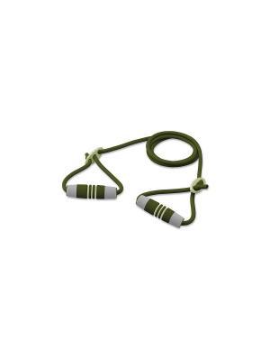 Эспандер трубчатый c регулируемой длинной Ecowellness. Цвет: зеленый