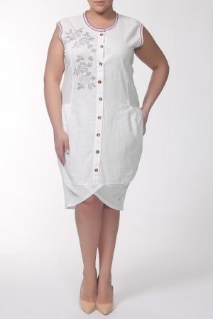 Платье QNEEL Q'NEEL. Цвет: молочный