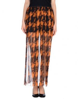 Длинная юбка MARTA MARTINO. Цвет: ржаво-коричневый