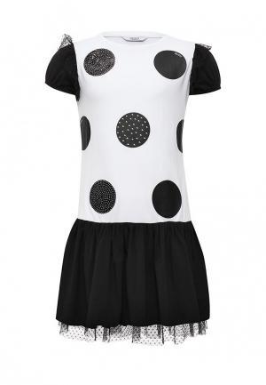 Платье Guess. Цвет: черно-белый