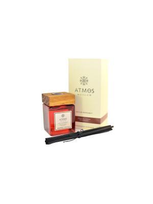 Ароматический диффузор Цейлонский Бергамот / Fragrance diffuser Ceylon Bergamot ATMOS Moscow. Цвет: красный