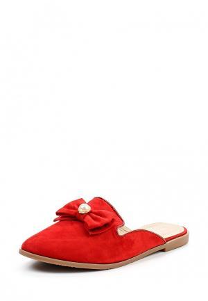 Сабо Ideal Shoes. Цвет: красный