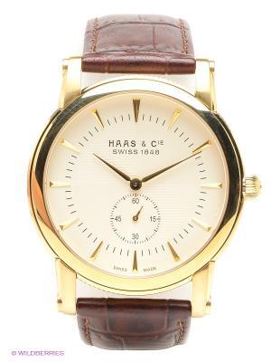 Часы SFYH 011 XVA HAAS & Cie. Цвет: темно-коричневый, золотистый