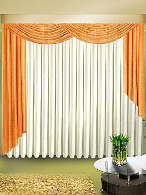 Комплект штор ZLATA KORUNKA. Цвет: персиковый