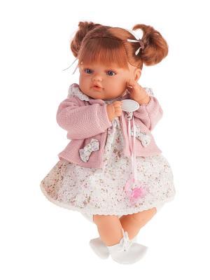 Кукла Каталина в розовом,плачущая,42см Antonio Juan. Цвет: бледно-розовый
