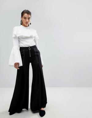 Style Mafia Расклешенные брюки Stylemafia Surco. Цвет: черный