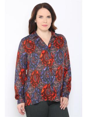 Блузка Horosha. Цвет: черный, красный, синий