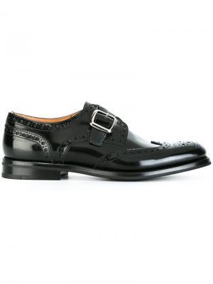 Туфли-монки Churchs Church's. Цвет: чёрный