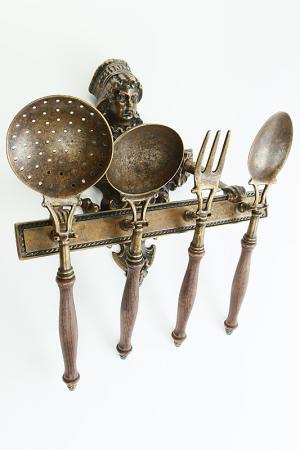 Аксессуар для кухни 4 шт. Stilars. Цвет: бронза