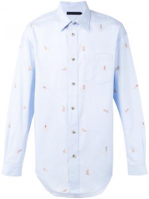 Рубашка с принтом Alexander Wang. Цвет: синий