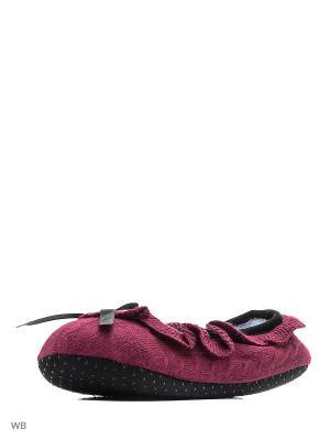 Носки-тапочки HOBBY LINE. Цвет: бордовый