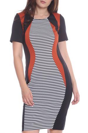 Платье Moda di Chiara. Цвет: black ,white, red