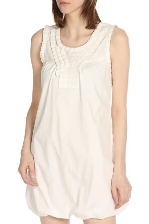 Летнее платье без рукавов ERMANNO BY SCERVINO. Цвет: 002 cream