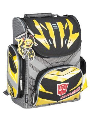 Ранец профилактический с эргономической спинкой. Transformers Prime. Цвет: желтый, черный, серый