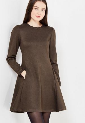 Платье Kristina Kapitanaki. Цвет: коричневый