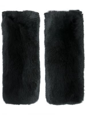 Перчатки Yves Salomon Accessories. Цвет: чёрный