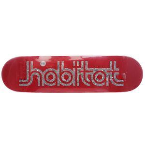 Дека для скейтборда  Su5 Ellipse Red 32.25 x 7.875 (20 см) Habitat. Цвет: бордовый