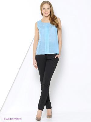 Блузка Sarafan. Цвет: голубой