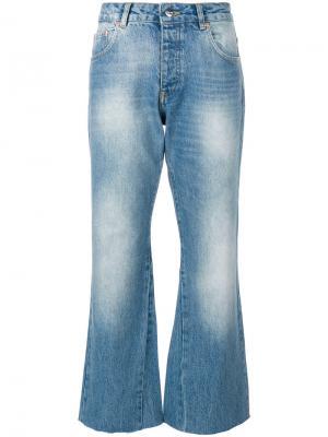 Укороченные джинсы Stella Anine Bing. Цвет: синий