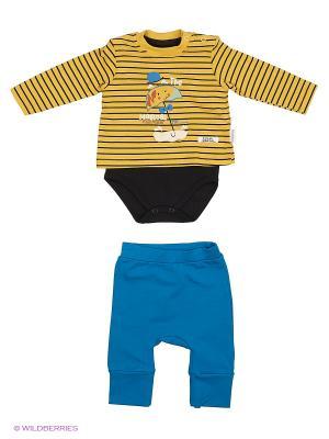 Костюм для малышей WO&GO. Цвет: горчичный, черный, бирюзовый