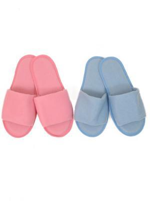 Тапочки домашние-2 пары Ярославская Мануфактура. Цвет: голубой, розовый