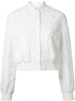 Куртка бомбер из макраме Huishan Zhang. Цвет: белый