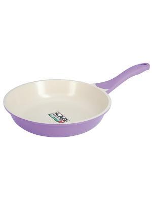 Сковорода, 24 см Regent inox. Цвет: лиловый