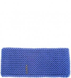 Синяя шапка-повязка с флисовой подкладкой Capo. Цвет: синий