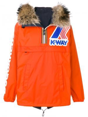 Ветровка в стиле пуловера K-Way Dsquared2. Цвет: жёлтый и оранжевый