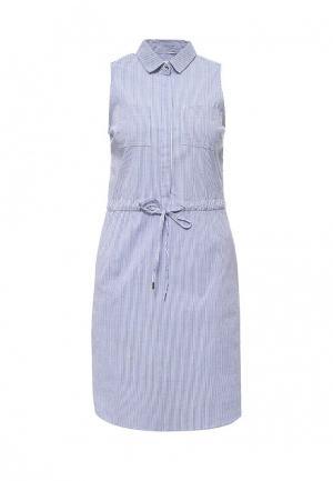 Платье oodji. Цвет: синий