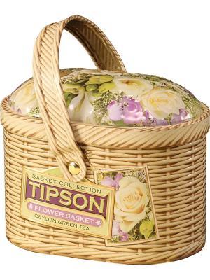 Чай Tipson Лукошко-Цветочное/Basket-Flower 100  ж/б. Цвет: зеленый